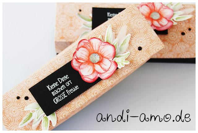 Verpackung für kleine Geschenke selbstgemacht Stampin Up