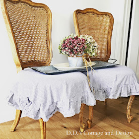 French skirted chairs