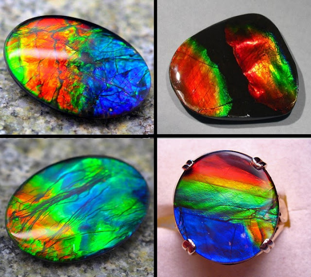 a gemstone with a spectacular flash of iridescent colors