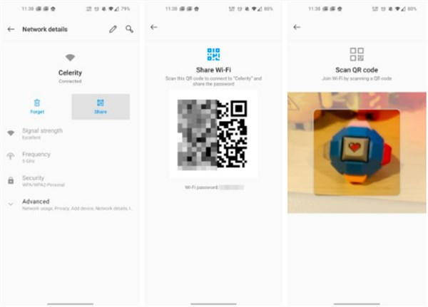 How to Share Wi-fi Network Passwords via QR Code on Android