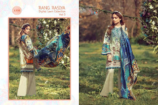 Shree Fab rang Rasia Digital Lawn Collection Vol 3 Pakistani Suits