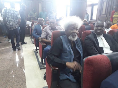 PHOTOS: Soyinka, Shehu Sani In Court For Sowore