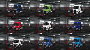 ets 2 european logistics companies paint jobs pack screenshots, ets 2 renault range t skins, dachser, bring, dfds, cee logistics, db schenker, arkas lojistik, cs cargo, barth+co spedition, willi betz