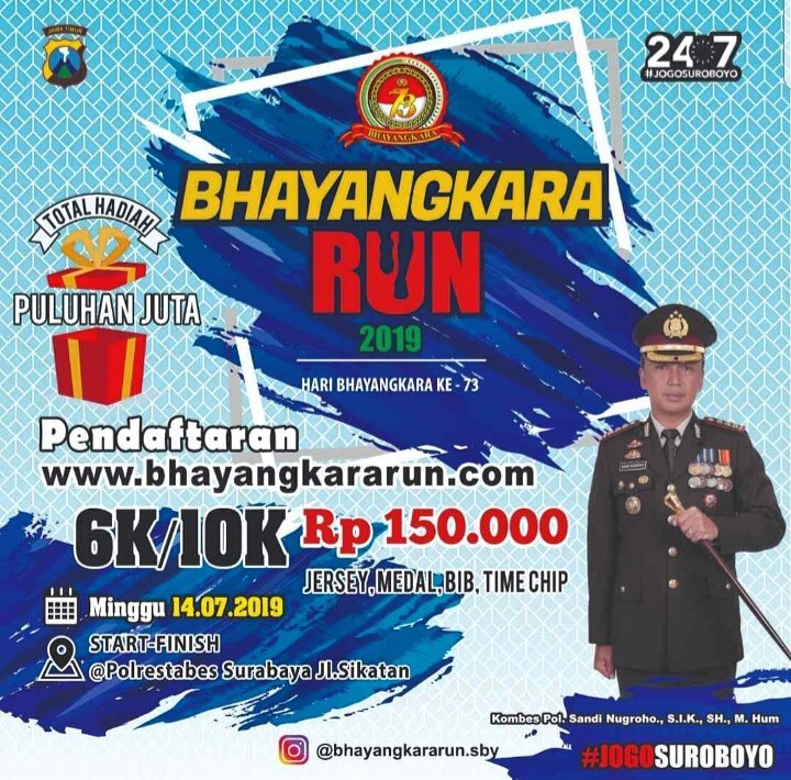 Bhayangkara Run - Surabaya • 2019