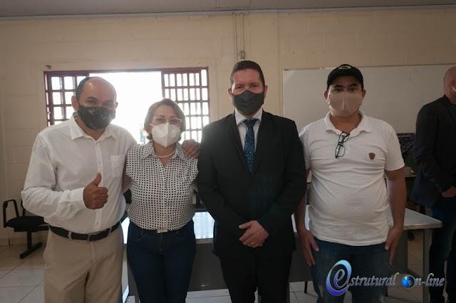 No café da manhã, ex-coordenador de campanha de Vânia Gurgel na Estrutural dá boas vindas a nova gestão do SCIA Estrutural