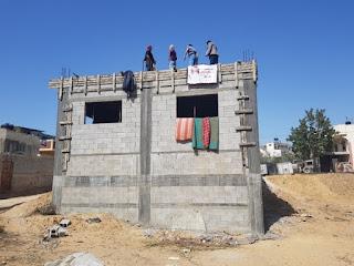 بناء 32 منزل بشكل كلي لأسر فقيرة في قطاع غزة