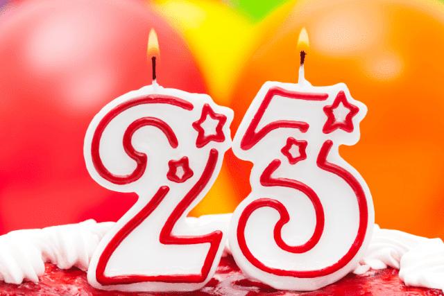 Textes joyeux anniversaire 23 ans