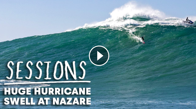 Hurricane Epsilon Brings Monstrous Waves To Nazaré Sessions