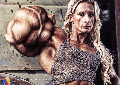 Amanda Snooks female muscle morph Area Orion biceps
