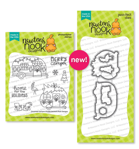 Christmas Campers | Camper Christmas Stamp Set by Newton's Nook Designs #newtonsnook