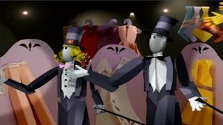 Mannequins in a store window dance, Mannequins dance. sesame street zoe's dance moves