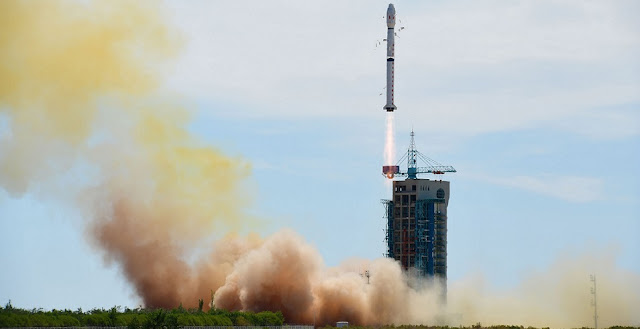 A Long March 4B rocket carrying China's second Shijian-16 satellite blasts off on June 29, 2016, from the Jiuquan Satellite Launch Center. Photo Credit: Xinhua / Wang Jiangbo