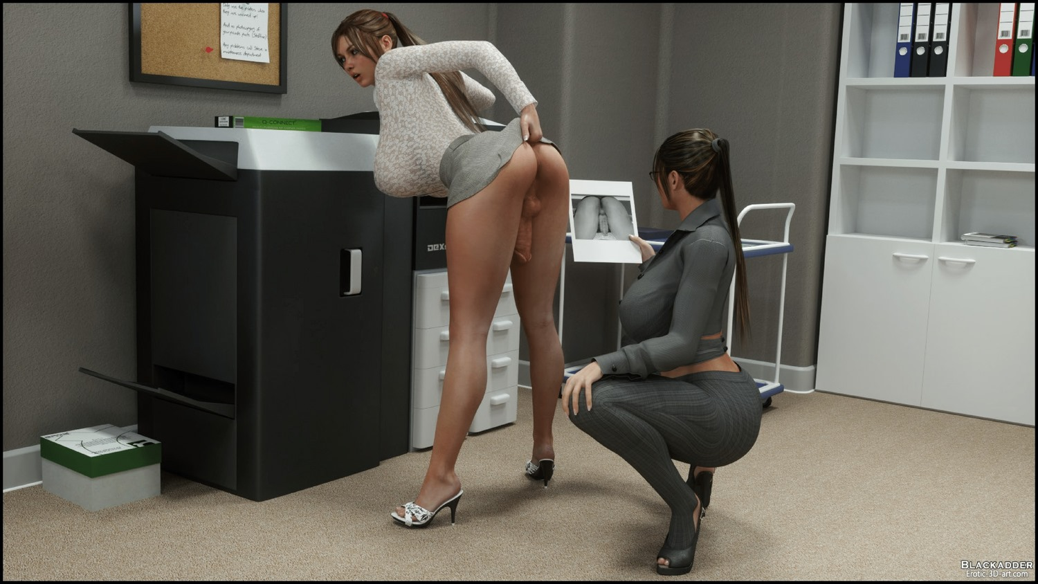 3d comic office girl with bigboobs 7