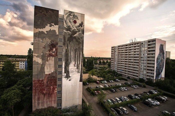 Испанский стрит арт художник. Gonzalo Borondo (стрит арт)