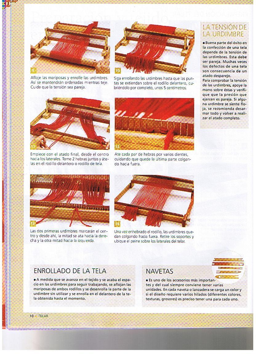 Wuitral Kapen: Preparación y tejido en el telar de peine