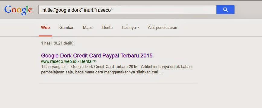 Inurl google dork
