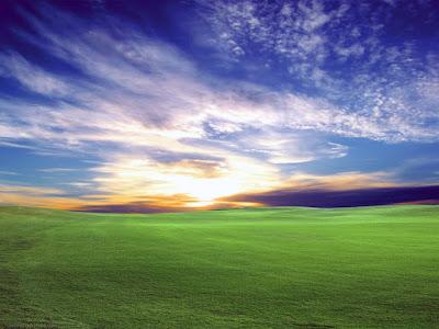 Gambar pemandangan hijau HD