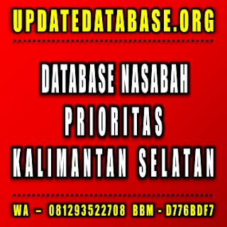 Jual Database Nasabah Prioritas Kalimantan Selatan
