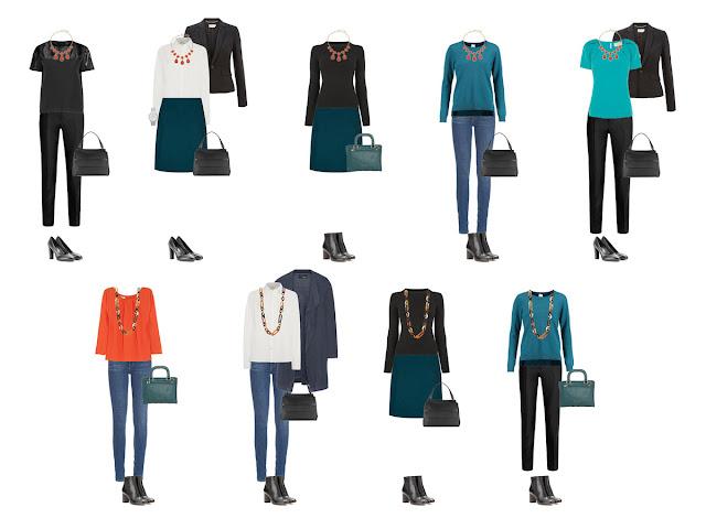 Комплекты капсульного гардероба с аксессуарами