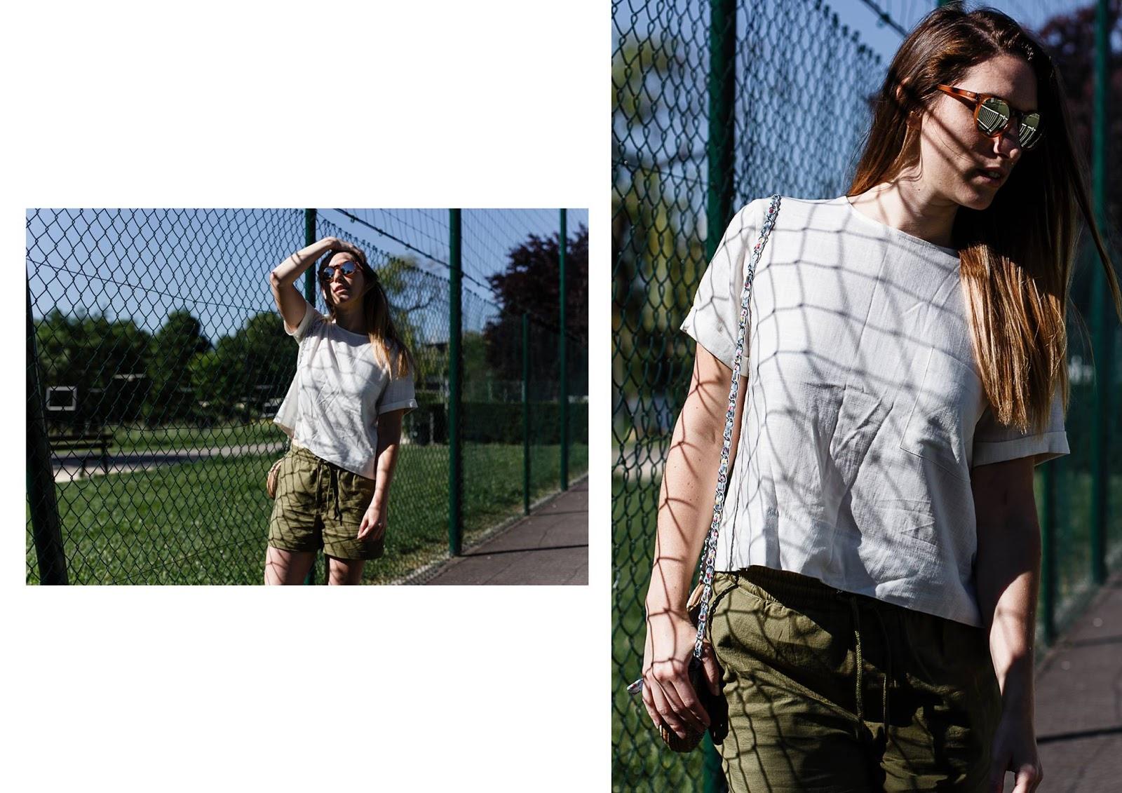 Look Style short kaki ICHI Pepaloves Turnover boutique Nancy Photographe Guillaume Gomez