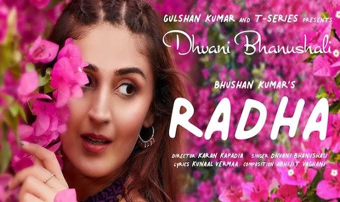 राधा Radha Lyrics – DHVANI BHANUSHALI