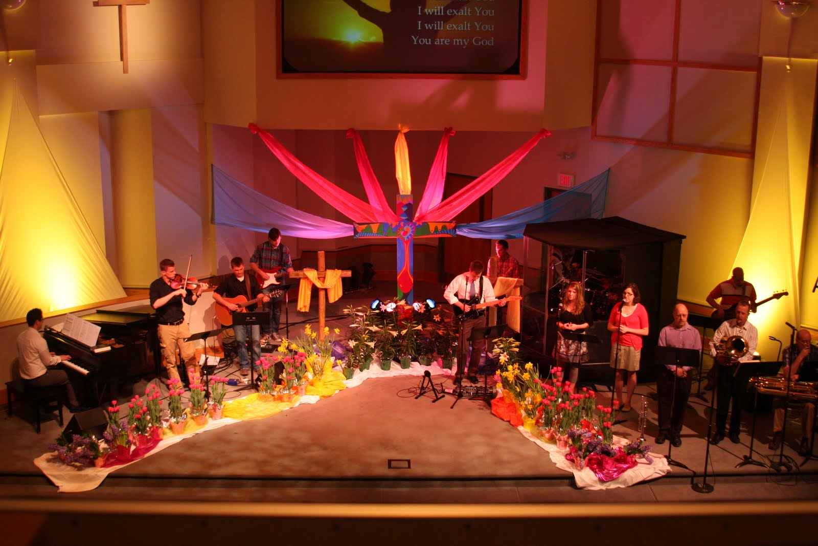 Church Stage Decorating Ideas Easter 2010