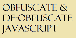 obfuscate and deobfuscate js