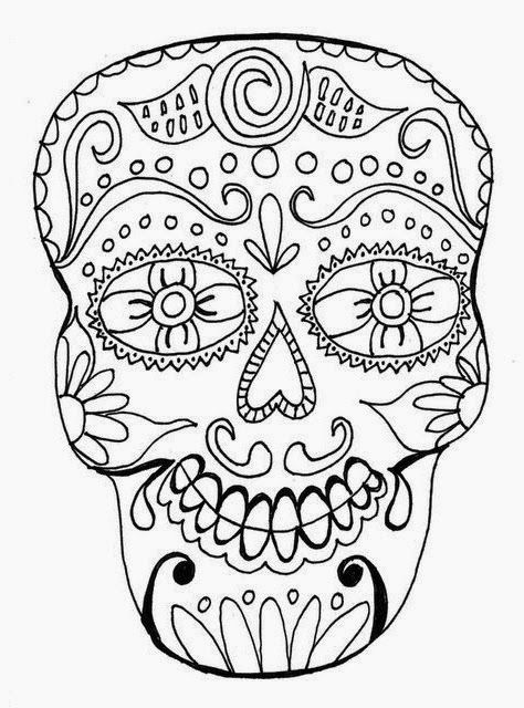 Sugar Skull Template Tattoos Book 2510 FREE Printable Tattoo Stencils Skulls