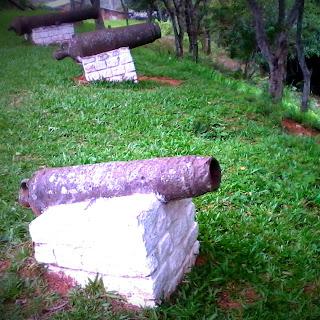 Canhões do Forte Jesus Maria José, em Rio Pardo