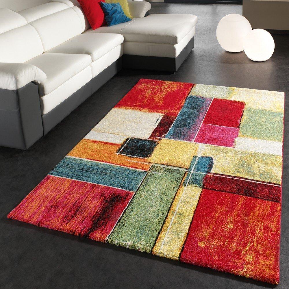Décoration tapis salon pas cher avec de belles couleurs modernes et style design