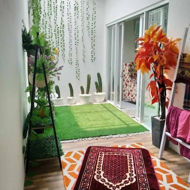 Desain Mushola dalam Rumah Nuansa Semi Outdoor