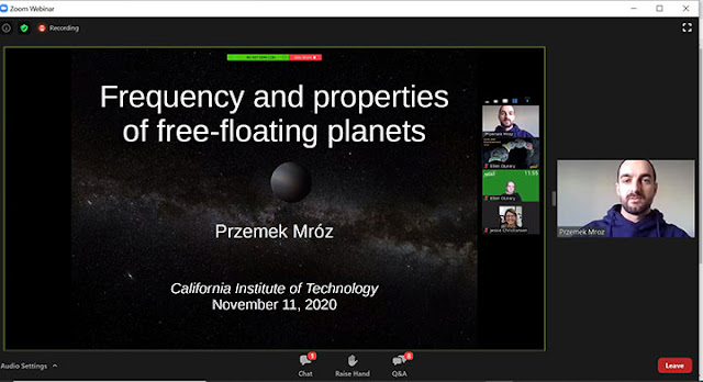 Free-floating planets (Source: Przemek Mroz, Exoplanets Demographics 2020 meeting)