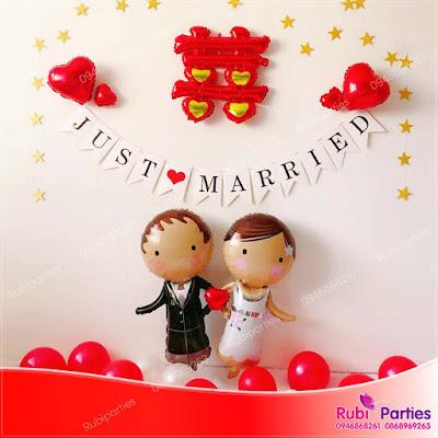 Cửa hàng bán phụ kiện trang trí phòng cưới ở Láng Hạ