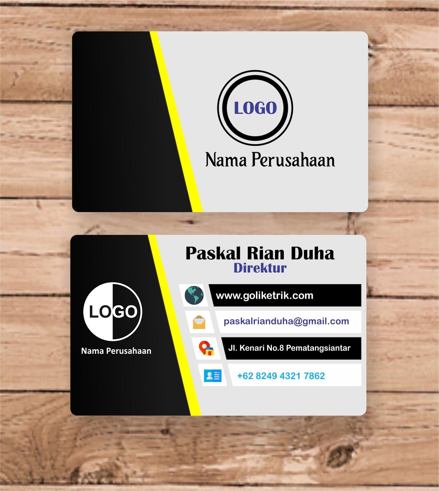 Download 15 Template Desain Kartu Nama /ID Card Elegan CDR ...