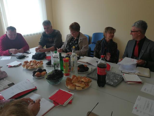 Детаљ са седнице ЦКВ одржане у Тителу