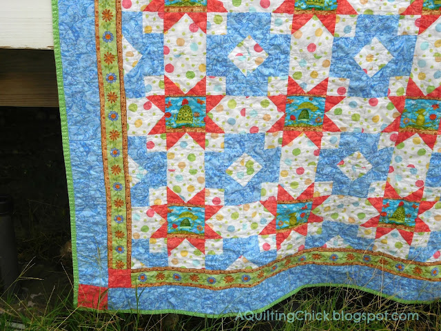 Frog Mystery Quilt - Left