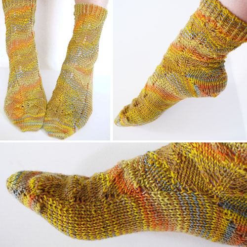Toe Up Ginkgo Socks - Free Pattern