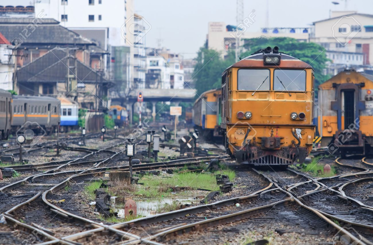 train tracks and orange1 - photo #46