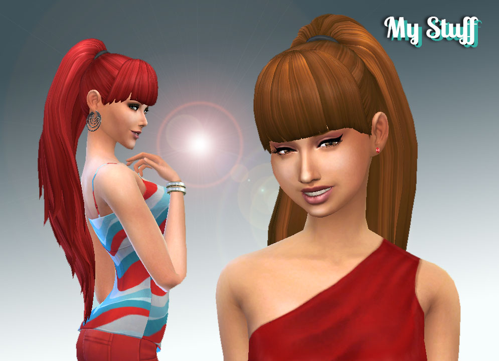 My Sims 4 Blog Ariana Ponytail Hair By Kaira24