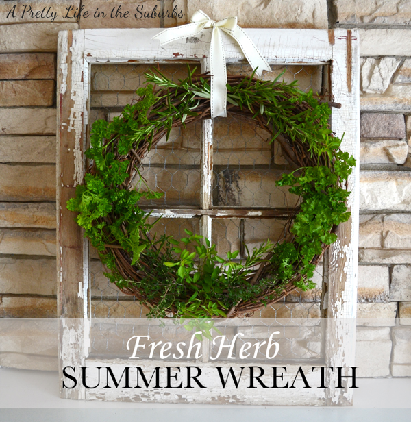 fresh herb wreath by A Pretty Life in the Suburbs