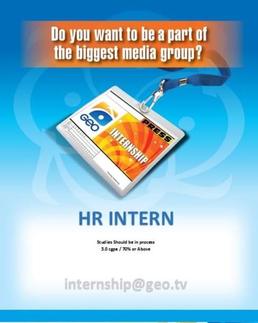 Geo TV Internship for Fresh Students | Jobs in Geo Television Network 2021
