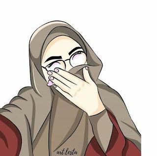 kartun muslimah bercadar