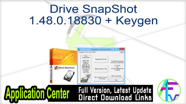 Drive SnapShot 1.48.0.18830 + Keygen