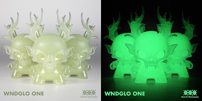 WNDGLO ONE Glow in the Dark Dunny Resin Figure by Scott Tolleson