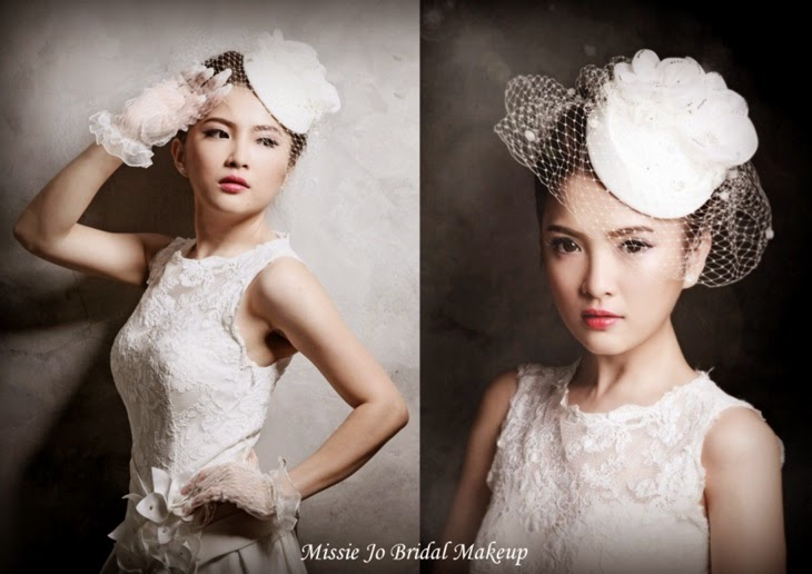 gloves red lip flower hat net