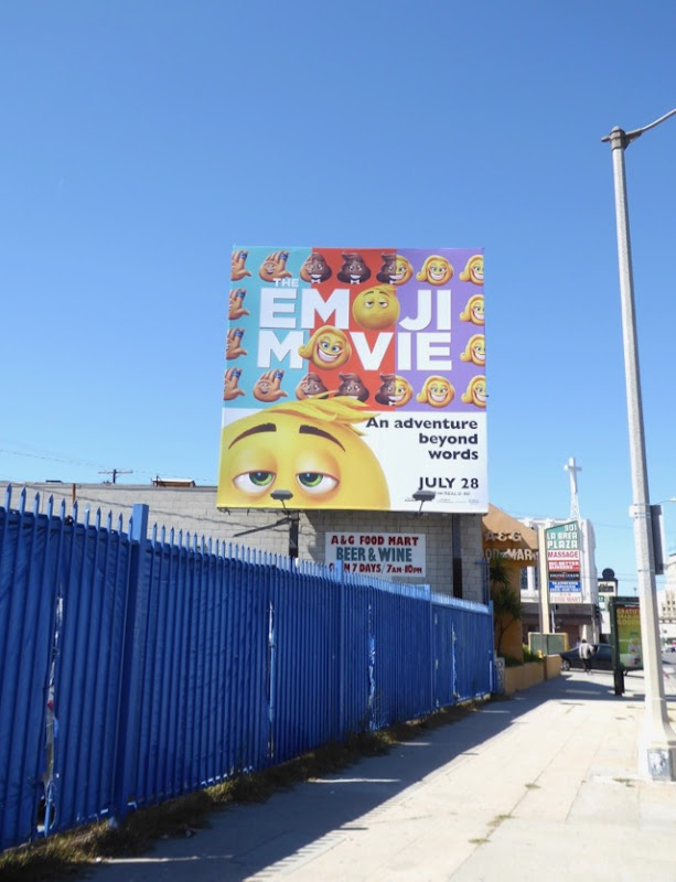 Emoji Movie billboard