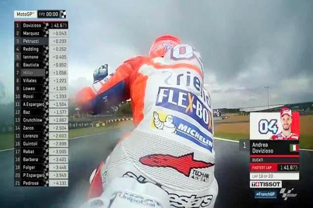 MotoGP Perancis 2017 : Ducati berjaya di FP2, Yamaha kedodoran karna sirkuit basah !