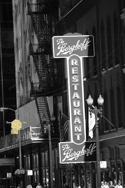 Berghoff Restaurant Downtown Chicago In Black And White