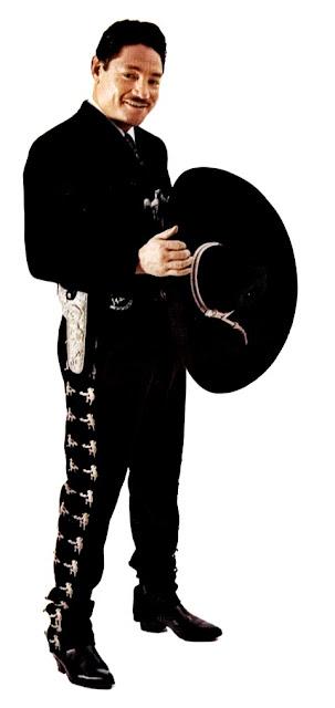 Foto de Javier Solis vestido de mariachi