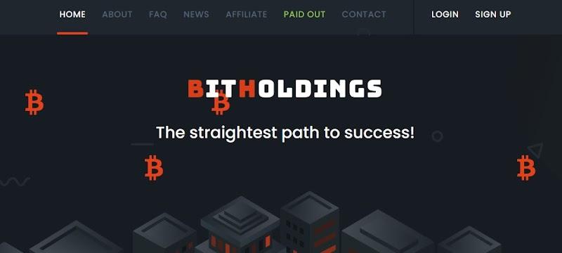 Мошеннический сайт bitholdings.biz – Отзывы, развод, платит или лохотрон? Мошенники